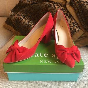 Kate Spade Arista Red Heels